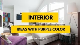 65+ Cool Modern Interior Design Ideas with Purple Color