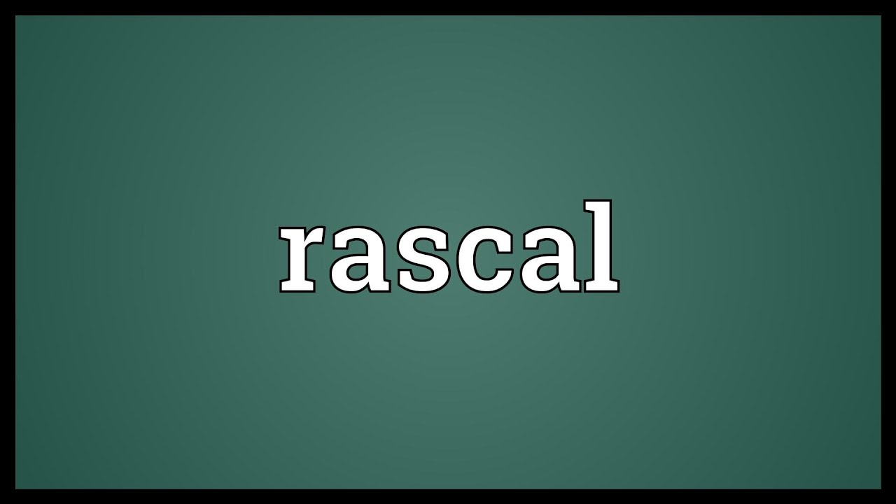 Rascal Meaning