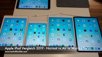 Apple iPad Vergleich 2019 - Normal vs Air vs Mini vs Pro
