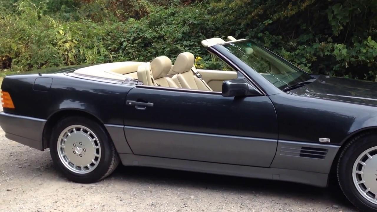mercedes 300 sl auto r129 black 1990 classic car youtube. Black Bedroom Furniture Sets. Home Design Ideas