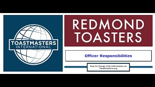 How to Change Club Information on Toastmasters.org