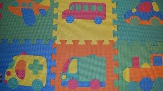 Мягкие пазлы для детей. Машинка, паровозик, самолет,автобус, грузовик, самосвал, кораблик.