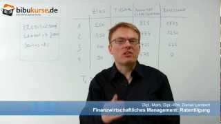 Ratentilgung - Formel, Definition, Beispiel und Berechnung screenshot 5