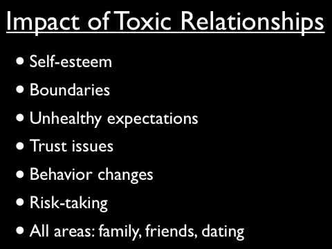 Dealing with toxic relationships