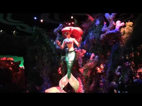 Under the Sea Journey of the Little Mermaid Walt Disney World Magic Kingdom Complete Ride