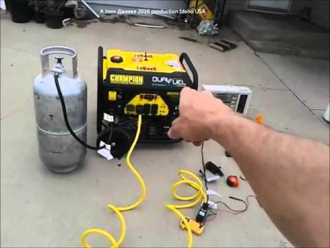 Champion Dual Fuel Gas & LPG 9000 Watt propane Generator 100165 Set Up & Test, more info below