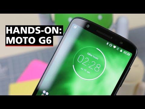 Moto G6 finalmente chegou! - Hands-on (Português)