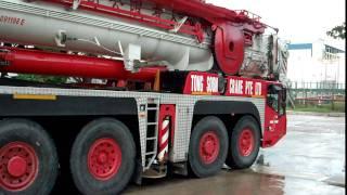 Terex Demag AC 350 , Tong Soon Crane Pte Ltd (逆行)