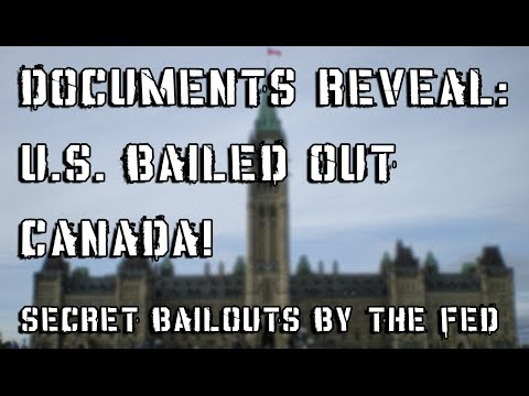 Fed Bailed Out CANADA! Prime Minister Harper Caught Lying!