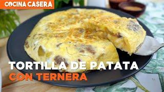 Tortilla de patata con Kebab de Ternera