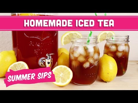 Homemade Iced Tea! Summer Sips in Sixty Seconds - Mind Over Munch