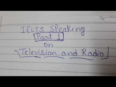 Part 1: Television and Radio (IELTS speaking part 1)