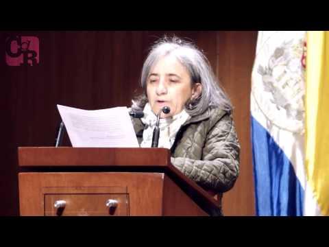 Marisol Cano en instalación de IX Encuentro de Periodismo de Investigación