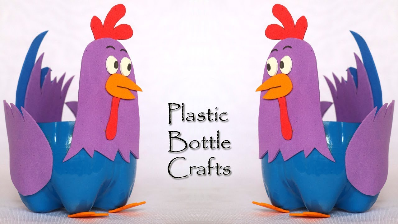 Plastic Bottle Craft Ideas Farm Animals Chicken Diy Easter