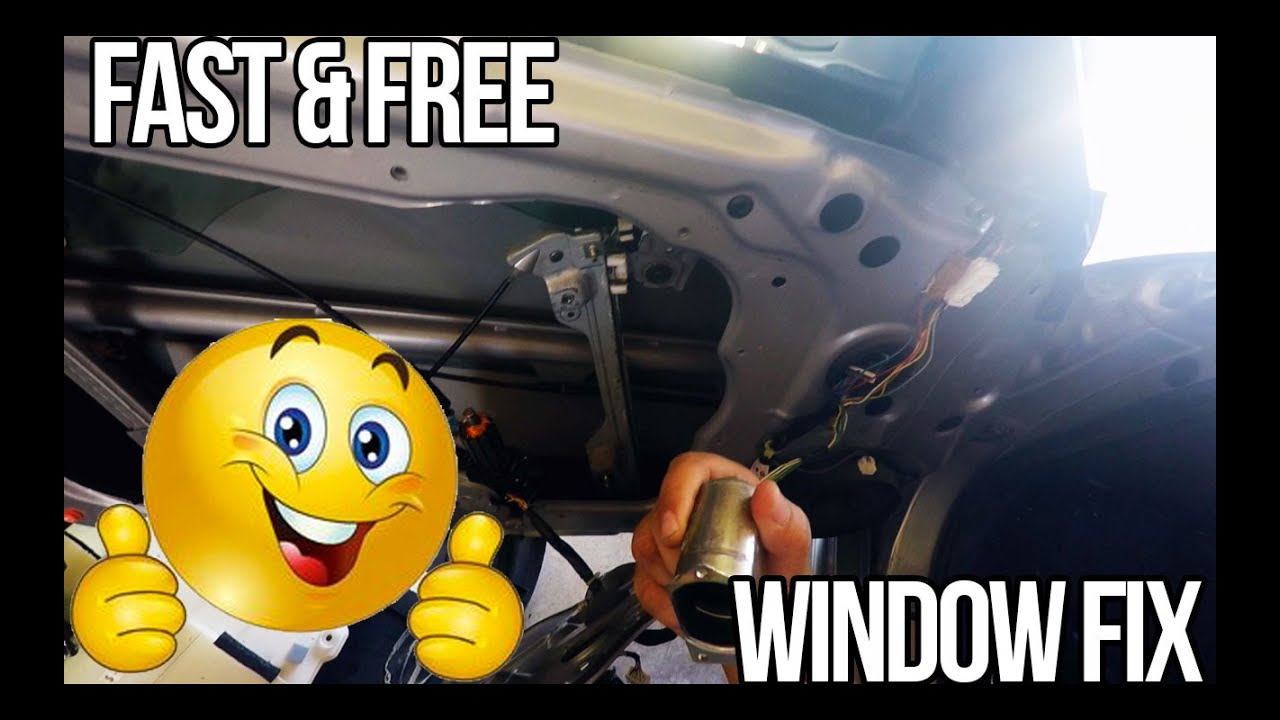 How To Nissan 350z Quick Window Fix Youtube