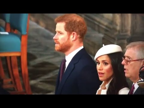 First Time Meghan Markle Sings 'God Save The Queen' Infront Of Queen Elizabeth ll