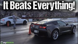 Tesla STUNS Hellcat, Corvette Z06, More (Drag Racing Compilation)