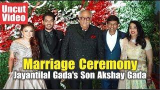 "Many Bollywood Celebrities At The ""Marriage Ceremony Of Jayantilal Gada's Son Akshay Gada"""