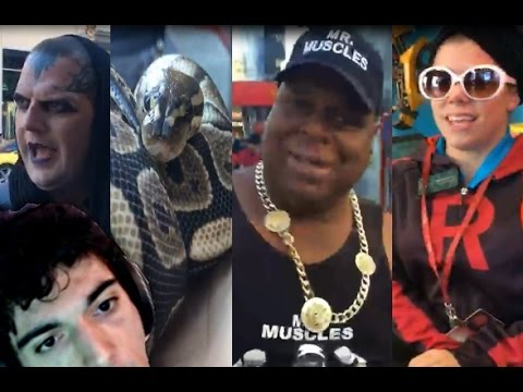 Ice Poseidon in Hollywood (DAY1) street performers / VainGlory Worlds [VOD: 2-12-2016]