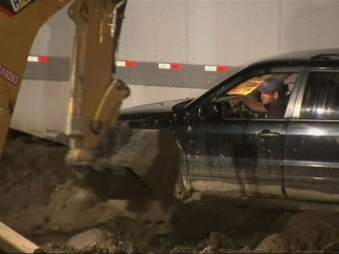 Floods and Mud Strand Los Angeles-Area Drivers