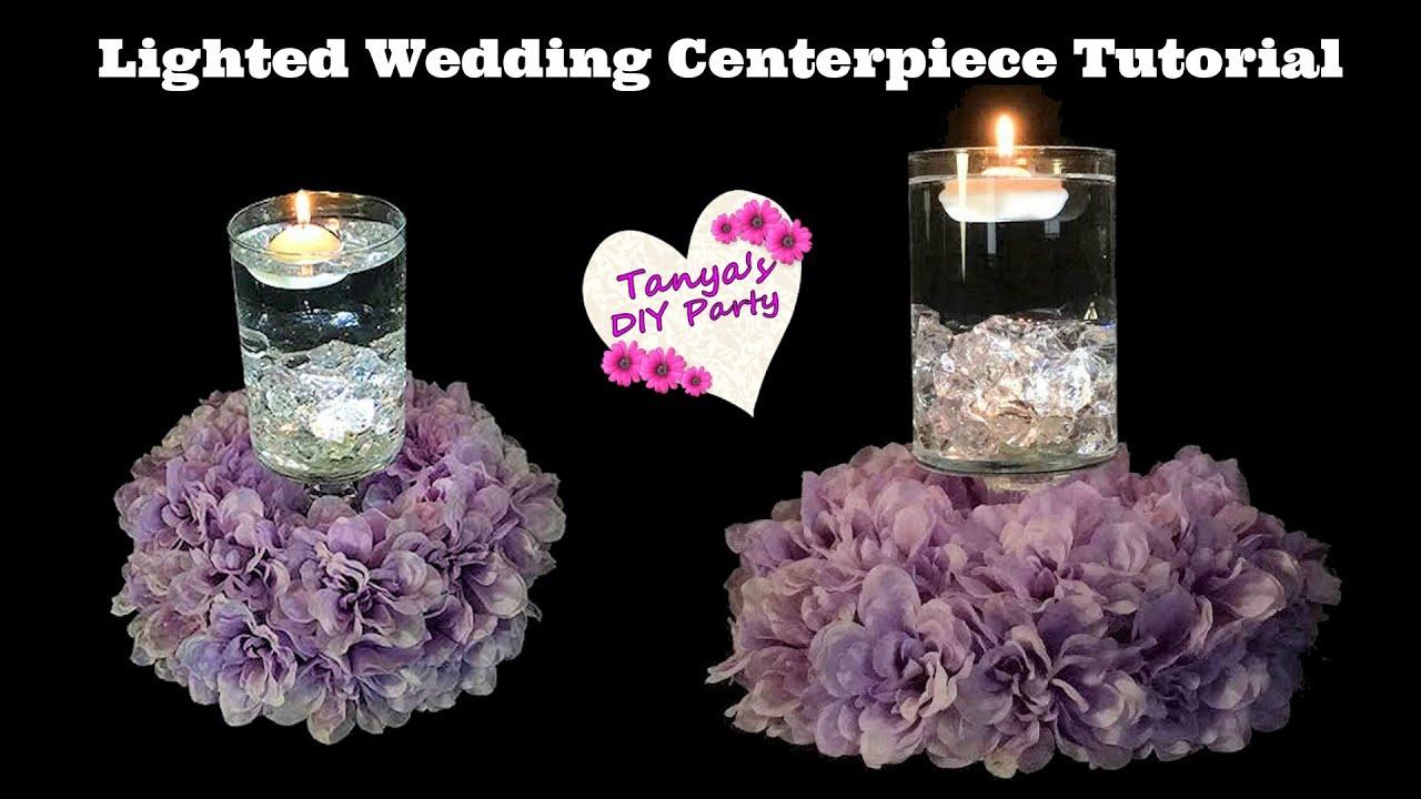 Lighted wedding centerpiece tutorial funnycat tv