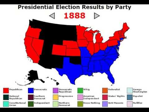 US Presidential Elections Map 1792 to 2012