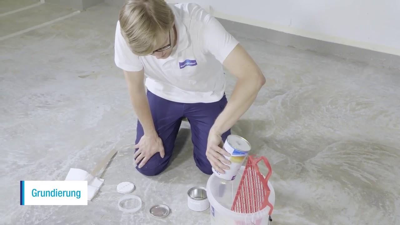 Fußboden Farbe ~ Bauhaus tv die fußbodenfarbe von swingcolor youtube