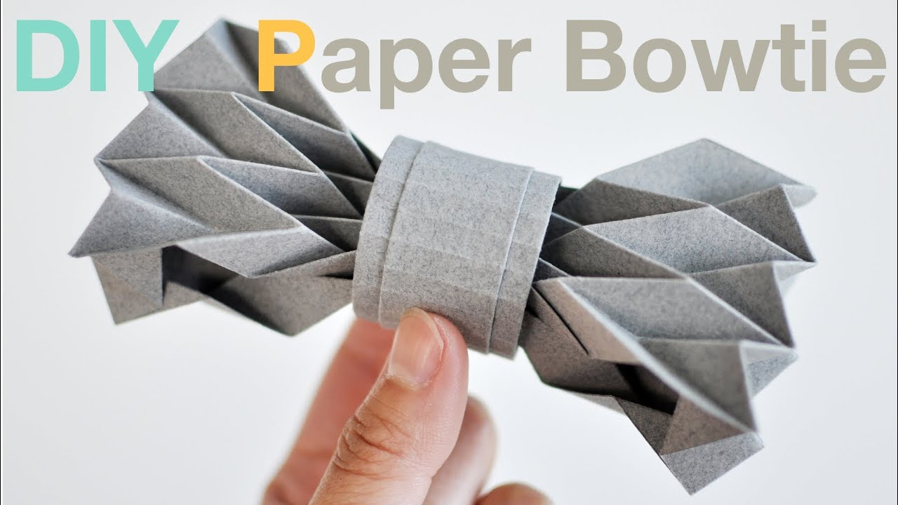 How to make a paper bowtie diy tutorial youtube maxwellsz