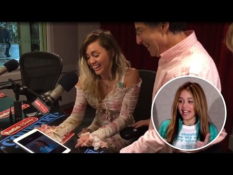 Miley Cyrus WATCHES Her 'Hannah Montana' Audition Tape While Promoting 'Malibu'