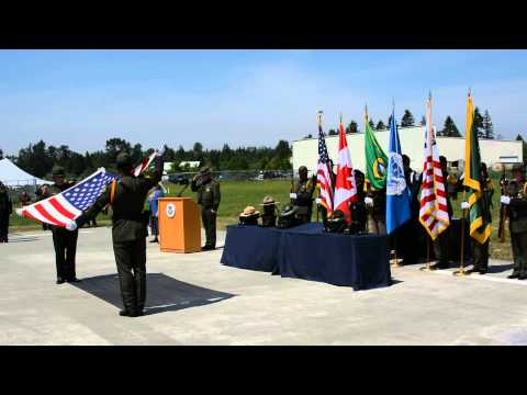 A 21-gun salute for fallen police in Washington state
