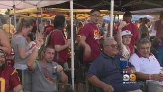 Fans Get Into Spirit For USC-UCLA Rivalry Game thumbnail
