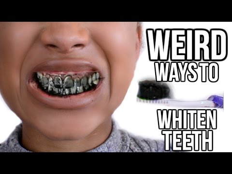 5 EASY Ways To Whiten Teeth With Weird Products!