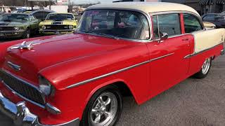 """SOLD"" 55 Chevy Bel Air 4 Speed $24,900 Maple Motors"