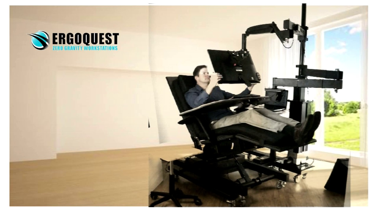 ergoquest zero gravity desk zgw 0a youtube rh youtube com