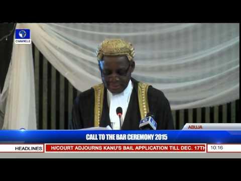 Nigerian Law School Call To Bar Ceremony 2015 (Pt. 1) 15/12/15