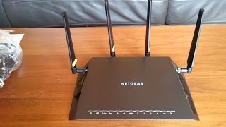 Netgear Nighthawk X4S D7800 AC2600 VDSL/ADSL Modem Router Unboxing