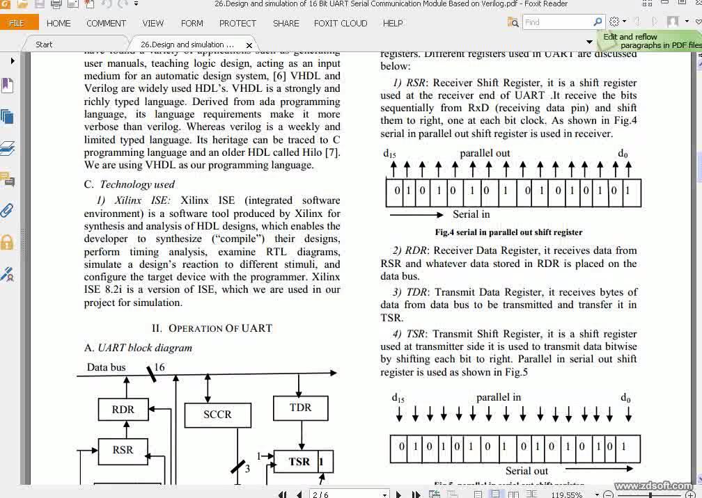 Design and simulation of 16 Bit UART Serial Communication Module Based on  Verilog