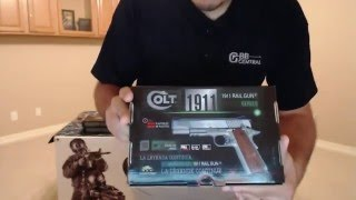 COLT 1911 Rail Gun Review & Airsoft Unboxing  (GBB Central)