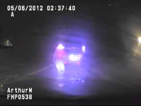 RAW VIDEO: FHP Trooper Tackles Woman After Arrest