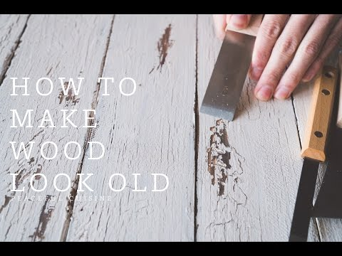 【DIY】How to Paint Wood to Look Old ☆ 古材風ペンキ剥げ&ひび割れ加工塗装のやり方