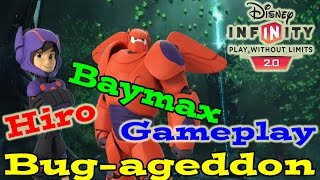 Disney Infinity 2.0 Toy Box Bug-ageddon (hiro And Baymax Multiplayer Gameplay + Skill Tree)