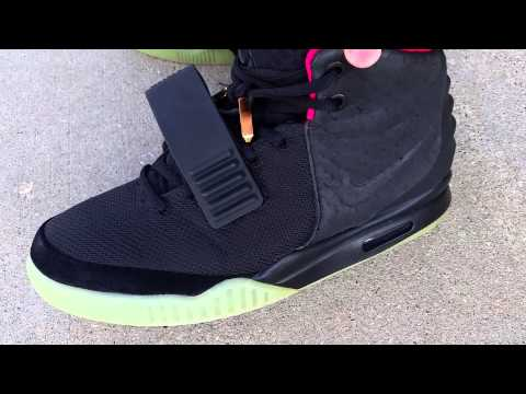 c840fa3e06f73 NIKE AIR YEEZY 2 II NRG SOLAR RED BLINK AUTHENTIC ON FOOT FEET REVIEW! KANYE
