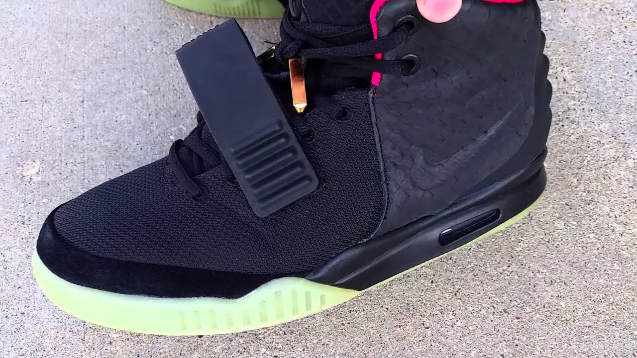 best authentic 7def6 8418f NIKE AIR YEEZY 2 II NRG SOLAR RED BLINK AUTHENTIC ON FOOT FEET REVIEW!  KANYE WEST YEEZUS GLOW TEST!