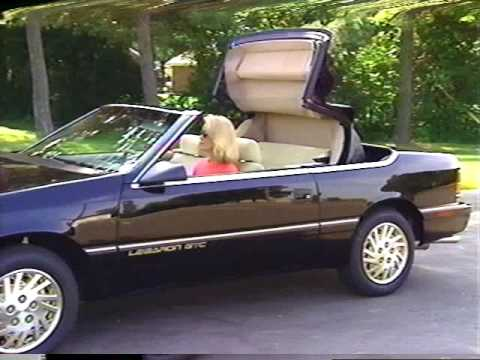 1995 Chrysler Lebaron Convertible Operating Tips