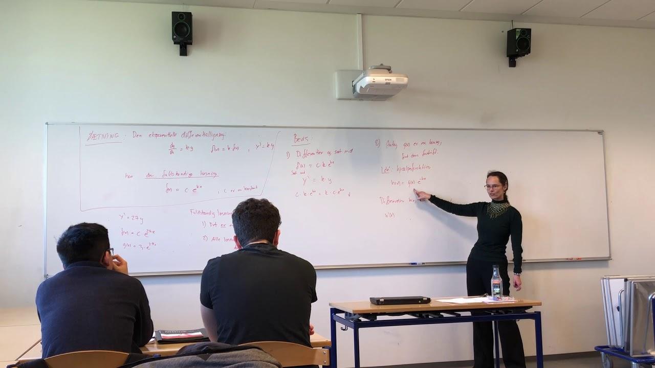 Bevis for løsningen til den eksponentielle differentialligning