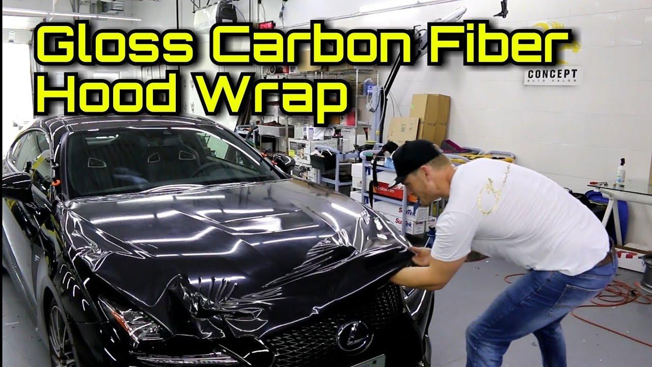 5d Gloss Carbon Fiber Wrap Hood Vinyl Wrap Lexus Rcf