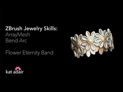 ZBrush Jewelry Basics: Flower Eternity Ring