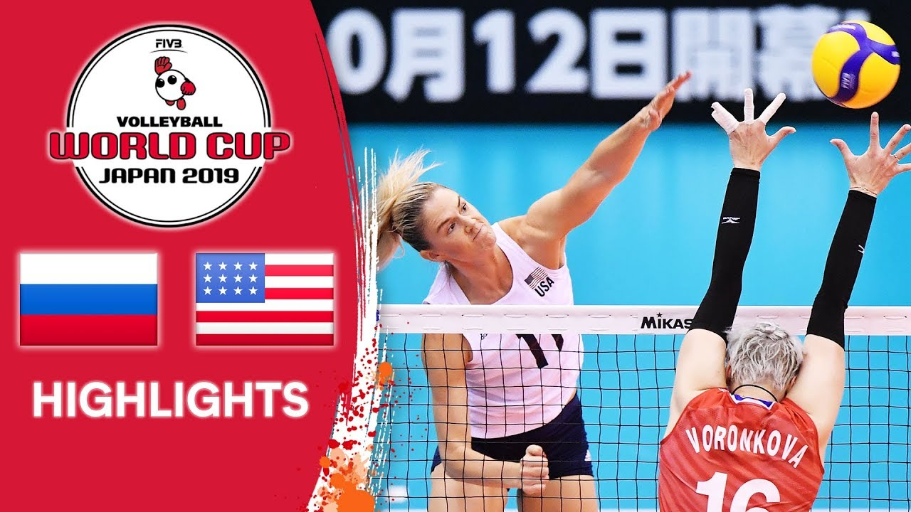 Russia Vs Usa Highlights Women S Volleyball World Cup 2019 Youtube