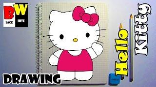 Рисуем карандашом кошку HELLO KITTY по клеточкам. Учимся рисовать КОШКУ карандашом.(Как нарисовать карандашом кошку по клеточкам https://www.youtube.com/channel/UC5Jj1a2UN9GJJKrw73w62OQ/videos Больше интересных видео..., 2017-01-07T15:45:00.000Z)