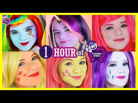 1 HOUR MY LITTLE PONY MANE 6 MAKEUP TUTORIALS! Rainbow Dash